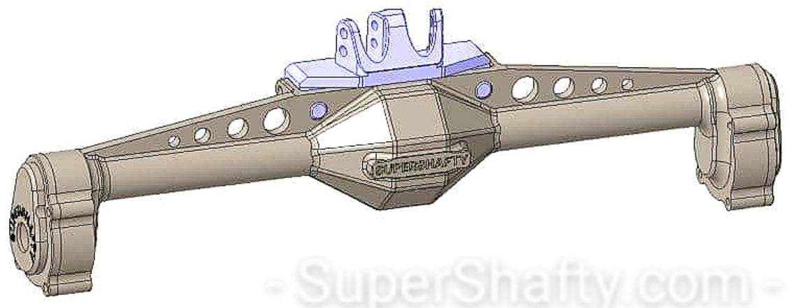 SuperShafty Axial Capra Rear Axle Upper Link Relocation Riser Bracket