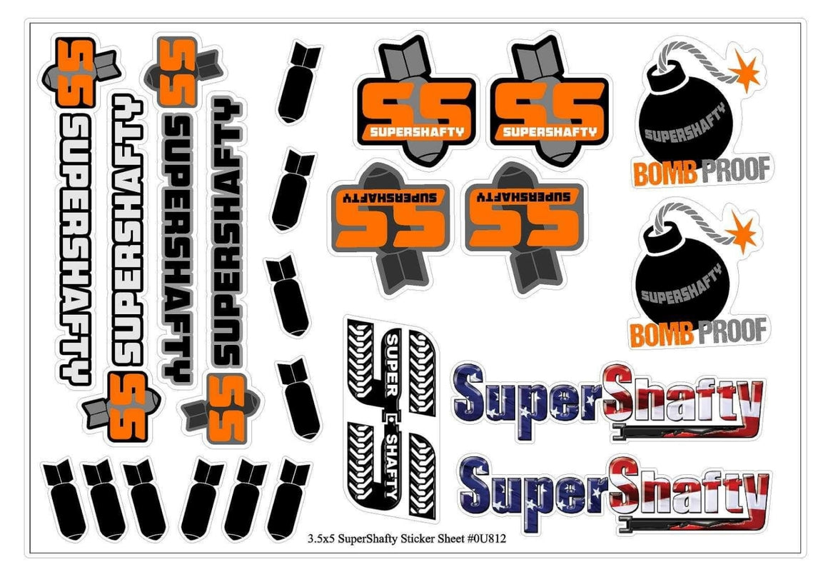 SuperShafty Bomb Sticker Sheet