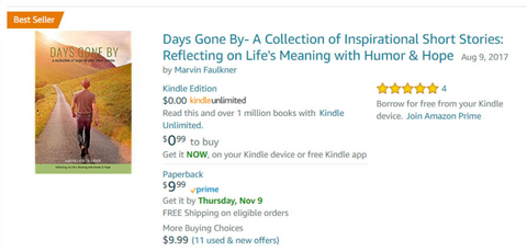 Days Gone By- Now an Amazon Bestseller!