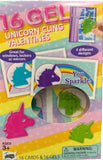 Unicorn Gel Cling Valentines Classroom Exchange Cards  16 count