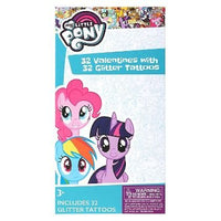 My Little Pony 32 Valentine Exchange Cards with 32 Glitter Tattoos