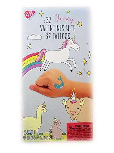 32 Magical Unicorn Valentine's Day Sharing Cards with Tattoos