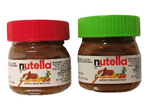 Nutella Spread Mini Jar Christmas Ornaments 1.05 oz Set of 2