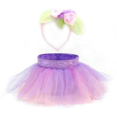 Purple Tutu Easter Basket with Matching Headband