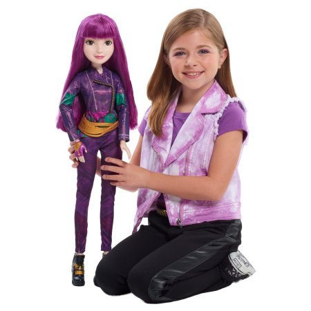 "Disney Descendants 2 Mal 28"" Doll with Share and Wear Bracelet"