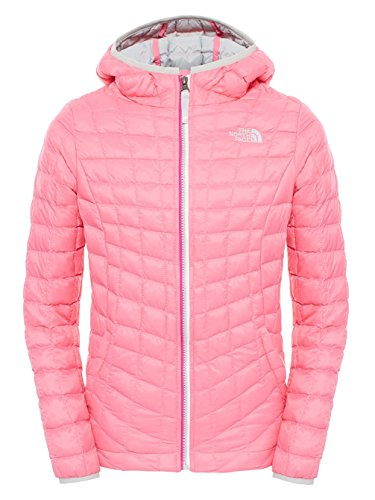 The North Face Girls ThermoBall Hoodie Gem Pink X-Large