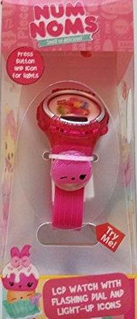 Num Noms LCD Watch with Flashing Dial and Light-Up Charm