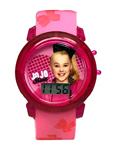 Jojo Siwa Girls Digital LCD Pink Light Up Watch - ICToys