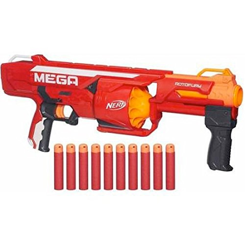 Nerf N-Strike Mega Series RotoFury Blaster with Whistler Darts