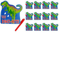 Dinosaur Dino-Mite Valentine Exchange Cards with Mini Pens 12ct