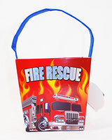 Firetruck Firefighter Easter Bucket Basket with Sound Fire Truck