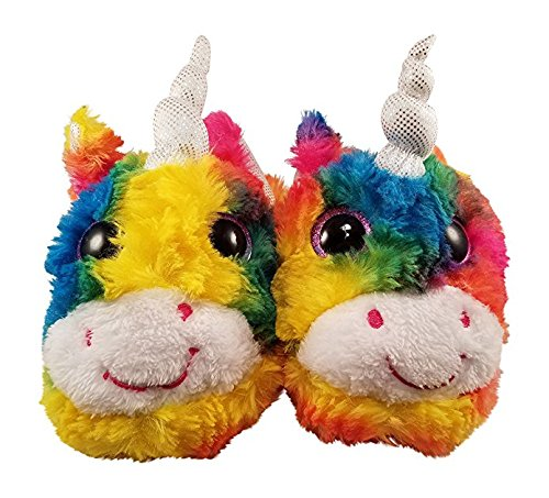 Girls Rainbow Unicorn Slippers