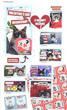 Grumpy Cat 32 Valentines Day Exchange Cards with 32 Stickers