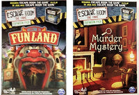 Escape Room the Game Welcome to Funland & Murder Mystery Expansion Packs Bundle