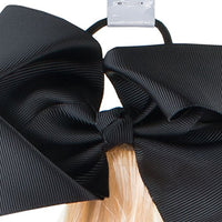 JoJo Siwa Girls Black Bow and Faux Hair Pony Tail Accessory