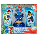 PJ Masks Soap & Scrub Shampoo and Body Wash Bath Set, 4pcs