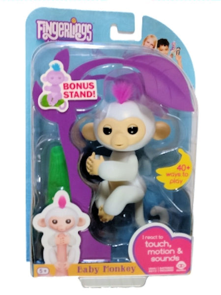 Fingerlings Baby Monkey - Sophie - White (Includes Bonus Stand)