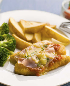 Chicken Parmi with Roasted Potato Wedges