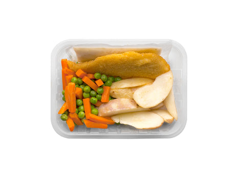 Crumbed Fish Fillets with Chunky Wedges