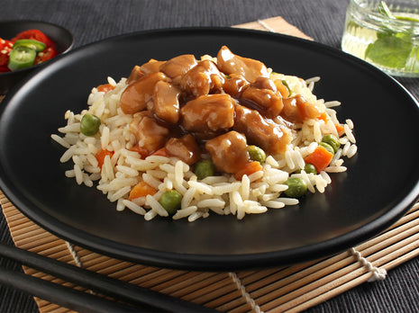 Sticky Honey Soy Chicken with Fried Rice