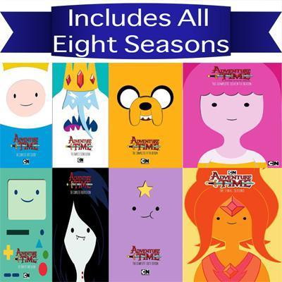 Adventure Time DVD Series Seasons 1-8 Set - DVDsHQ