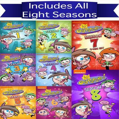 Fairly Odd Parents DVD Seasons 1-8 Set nickelodeon DVDs & Blu-ray Discs > DVDs