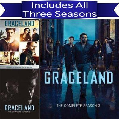 Graceland DVD Seasons 1-3 Set - DVDsHQ