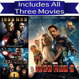 Iron Man Trilogy DVD Set Includes all 3 Movies Marvel Comics DVDs & Blu-ray Discs > DVDs
