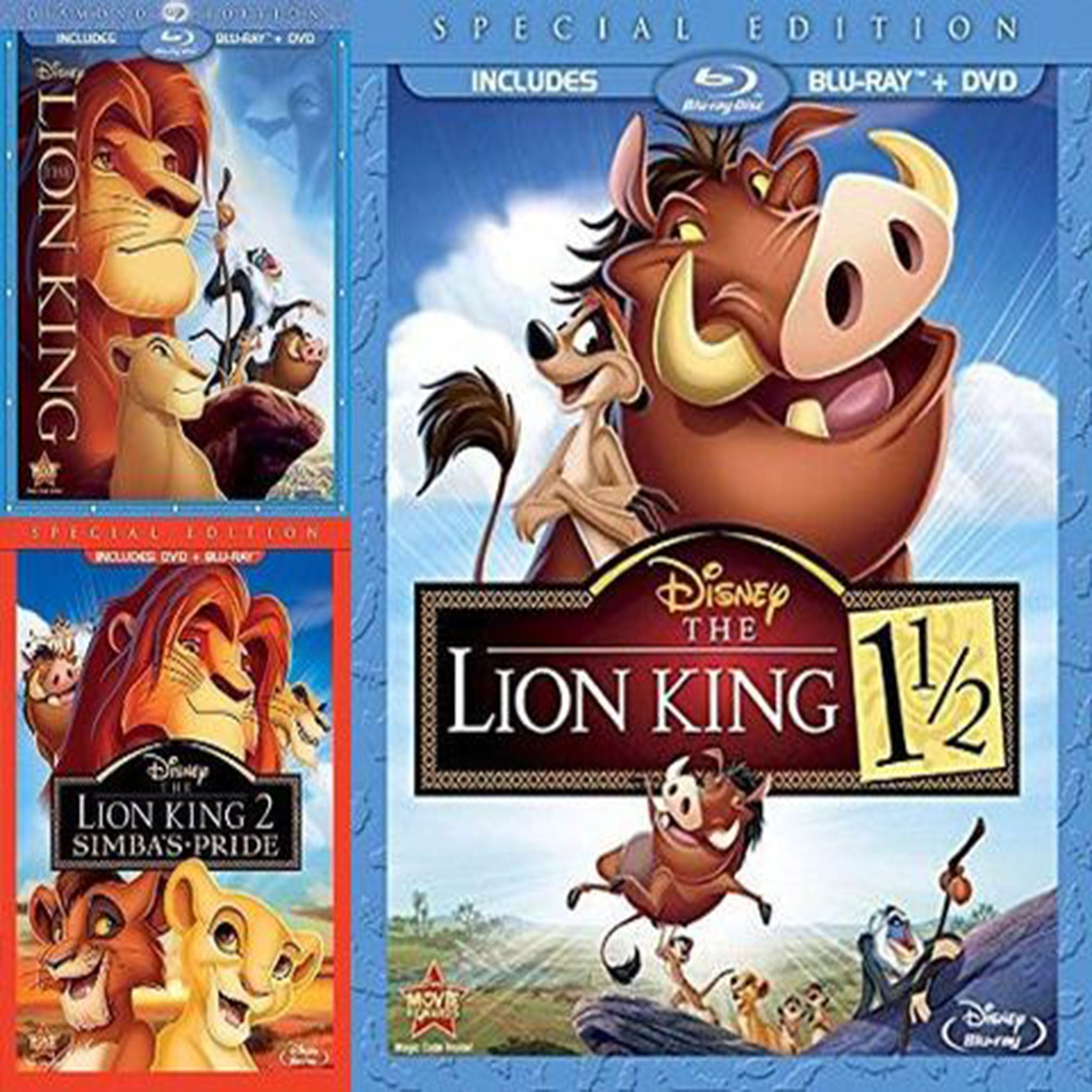 Lion King Trilogy Set (Blu-Ray) - DVDsHQ