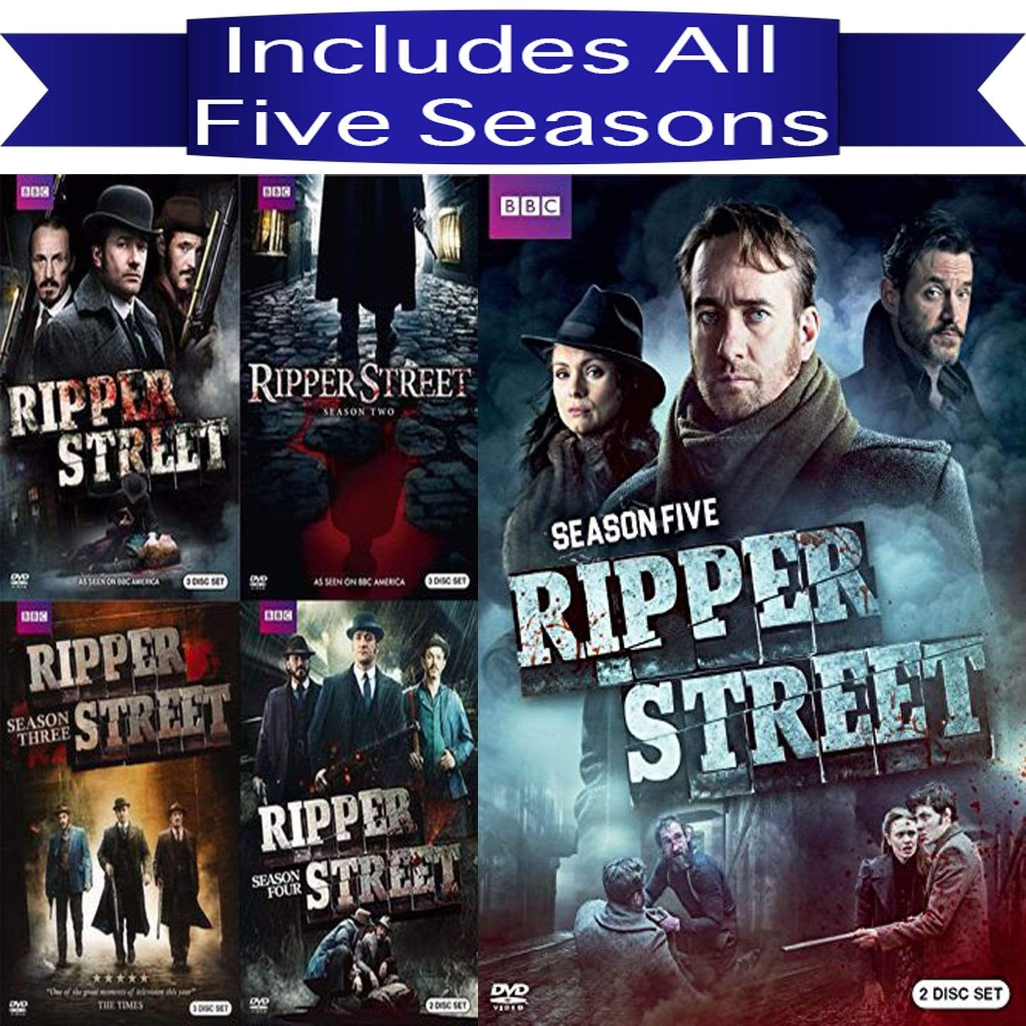 Ripper Street DVD Seasons 1-5 Complete Series Set BBC America DVDs & Blu-ray Discs > DVDs