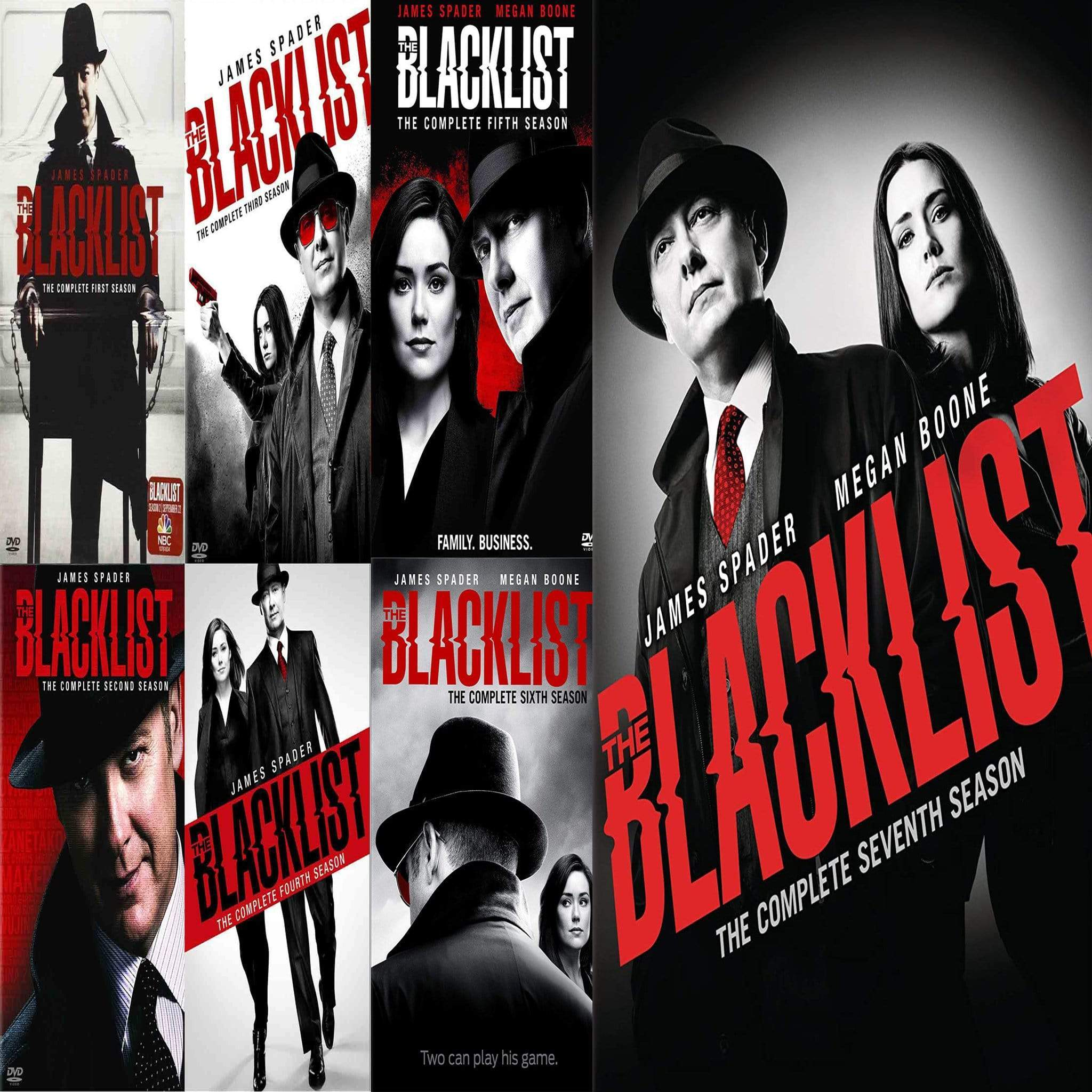 The Blacklist TV Series Seasons 1-7 DVD Set Sony DVDs & Blu-ray Discs > DVDs