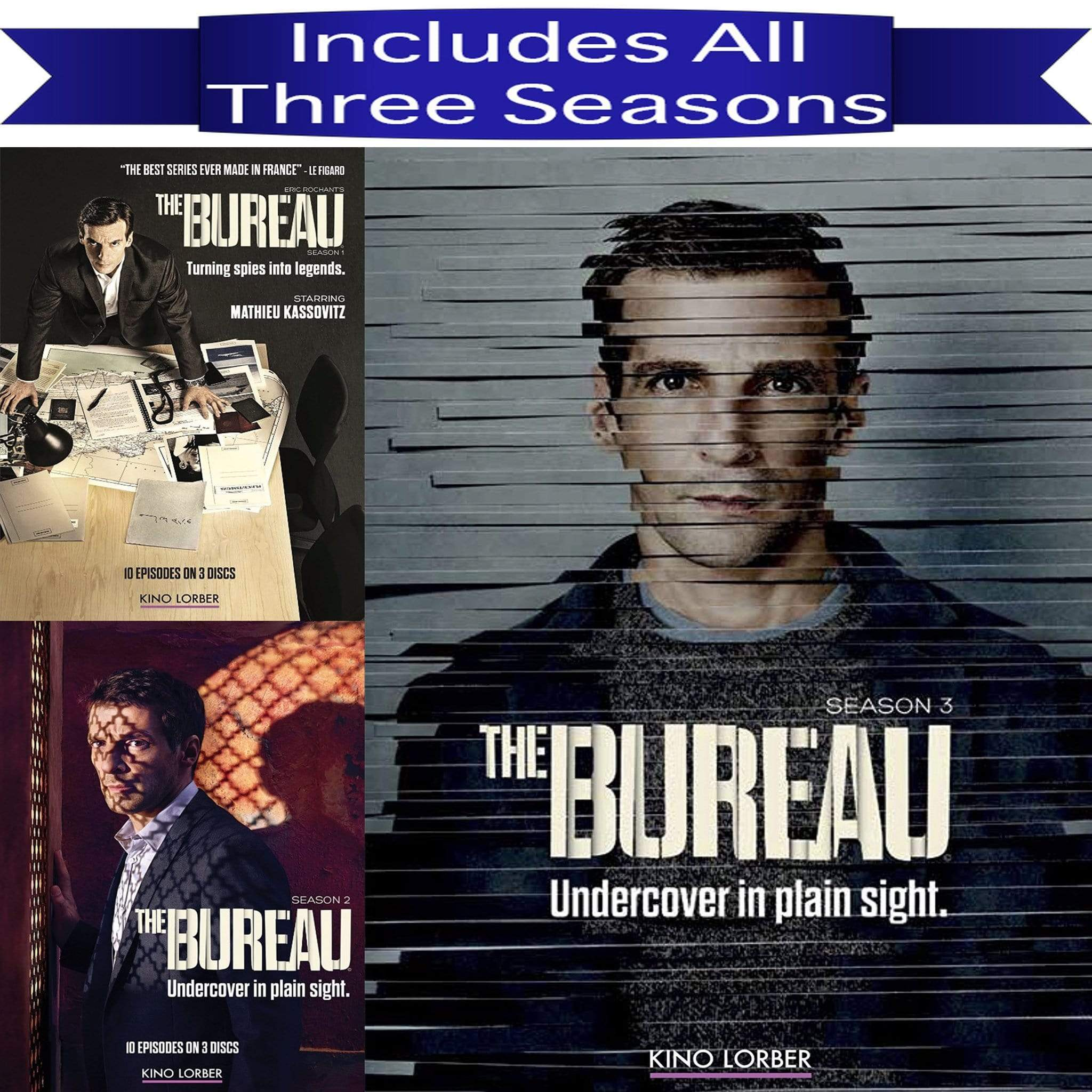 The Bureau DVD Seasons 1-3 Set Kino Lorber DVDs & Blu-ray Discs > DVDs