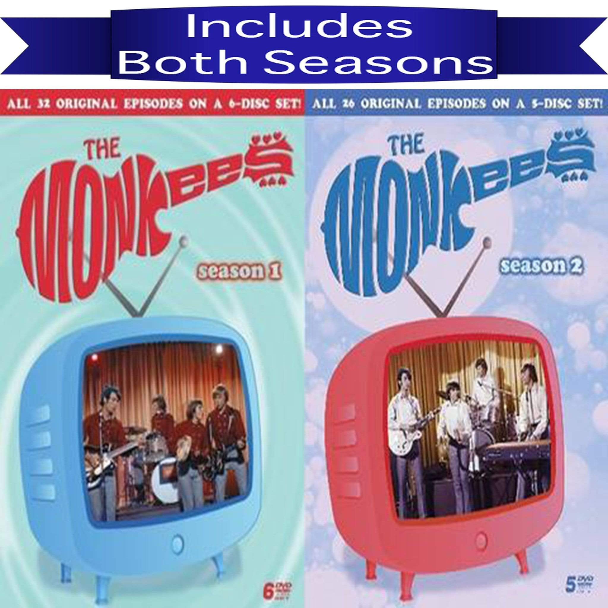 The Monkees Seasons 1-2 (DVD) Eagle Productions DVDs & Blu-ray Discs > DVDs