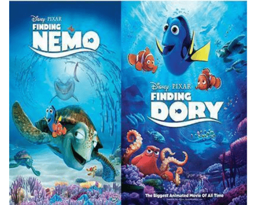 Walt Disney's Finding Nemo & Finding Dory DVD Set 2 Movie Collection Walt Disney DVDs & Blu-ray Discs > DVDs