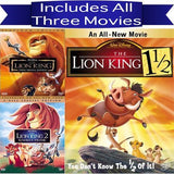 Walt Disney's Lion King Trilogy DVD Set 3 Movie Collection Walt Disney DVDs & Blu-ray Discs > DVDs