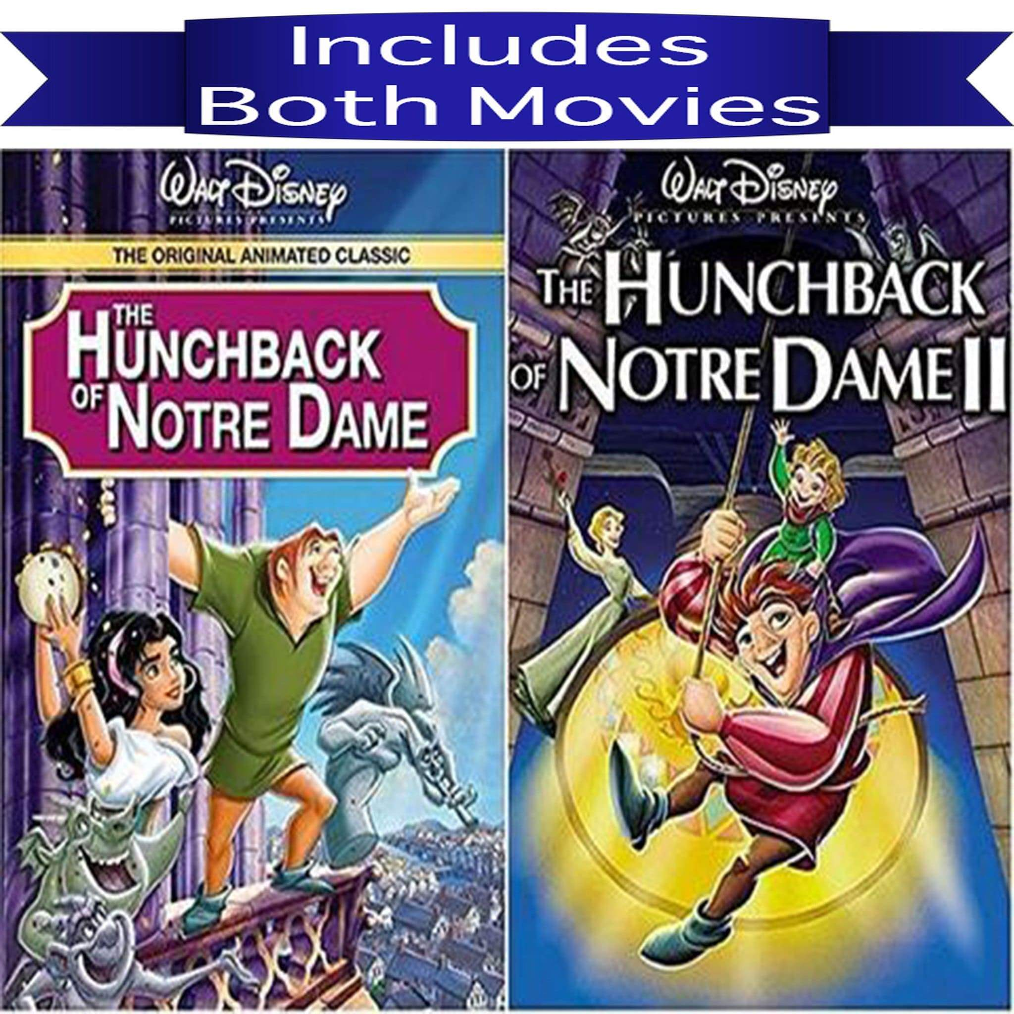 Walt Disney's The Hunchback of Notre Dame 1&2 DVD Set 2 Movie Collection - DVDsHQ