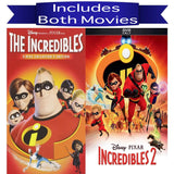 Walt Disney's The Incredibles 1&2 DVD Set 2 Movie Collection Walt Disney DVDs & Blu-ray Discs > DVDs
