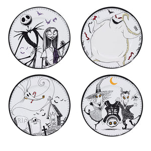 set 4 assiettes l'etrange noel de Monsieur Jack Skellington