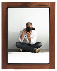 Walnut & Steel Mirror