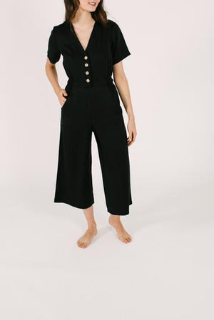 Final Sale- THE JANE ROMPER IN BARELY BLACK | Smash and Tess