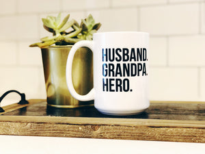 Husband Grandpa Hero Mug