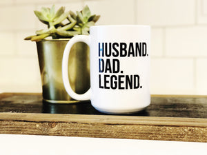 Husband Dad Legend Mug