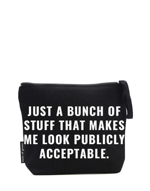 Publicly Acceptable Medium Zip Bag