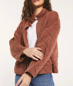 Maya Quilted Jacket Washed Whiskey | Z Supply