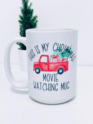 Christmas Movie Watching Ceramic Mug