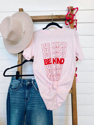 Be Kind Graphic Tee | Light Pink  XL-3XL