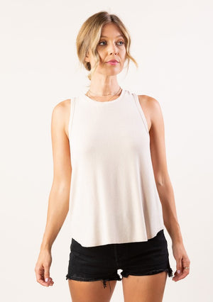 Micro Rib Racer Back Tank Top | Love Stitch