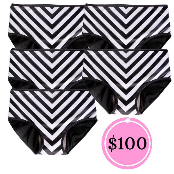 5 PCS MEDIUM CHEVRON
