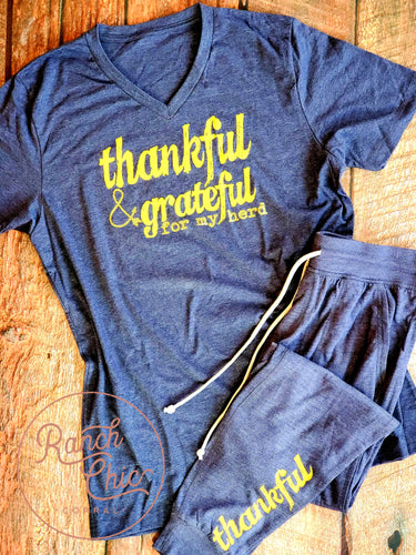 Thankful & Grateful Herd Loungewear