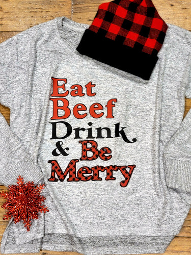 Eat BeeF Be Merry Shirt
